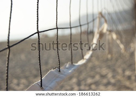 part of the volleyball net  - stock photo