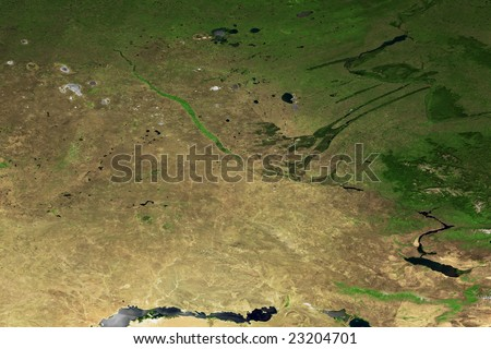 Part of the world map - stock photo