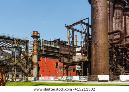 part of Vitkovice Steel in Ostrava - stock photo