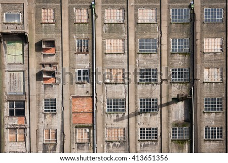 part view of  an old warehouse in Bristol, UK - stock photo