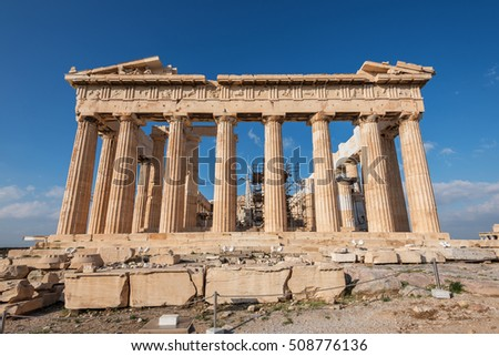 Parthenon at the Acropolis east side