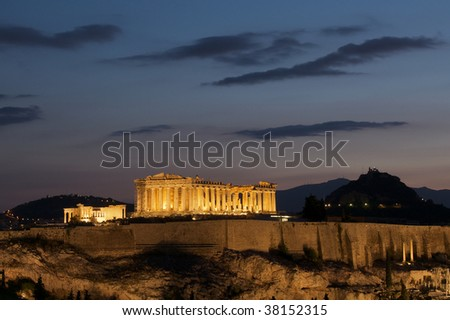 Parthenon Athens at dawn - stock photo