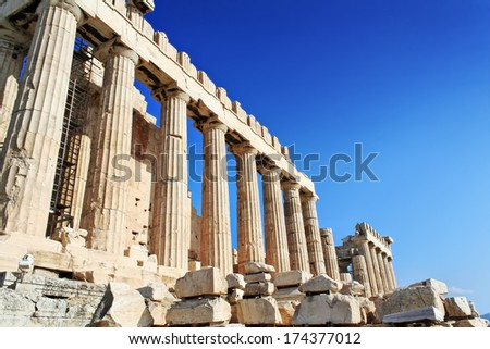 Parthenon in Acropolis, Athens, Greece, Europe