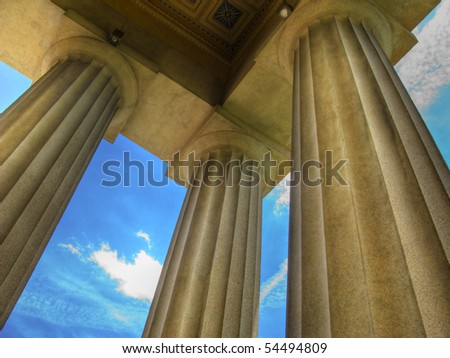 Parthenon in Centennial Park, Nashville, TN - stock photo