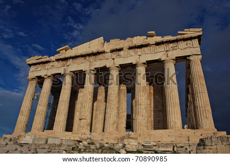 Parthenon of Acropolis in Greece