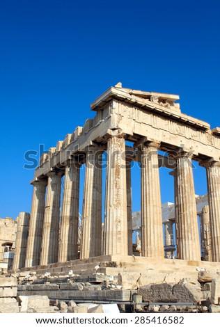 Parthenon on the Acropolis in Athens, Greece - stock photo