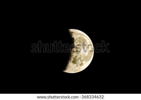 Partial Eclipse of the Moon - stock photo