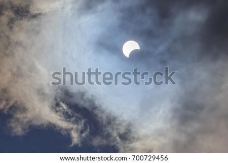 Partial Phase of Total Solar Eclipse 2017
