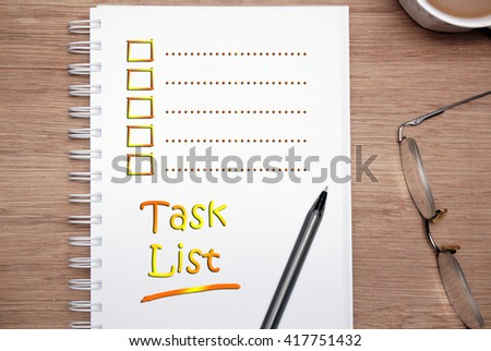 Task List Stock Images RoyaltyFree Images  Vectors  Shutterstock