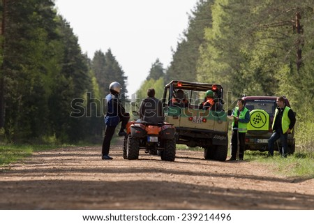 participants in offroad truck championship, Aluksne, Latvia, May 10, 2008