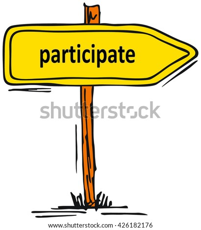 participate symbol - stock photo