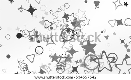 particle background. 3d illustration, 3d rendering