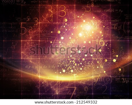 Particle Geometry series. Composition of Human profile, math and design elements suitable as a backdrop for the projects on science, technology and education - stock photo