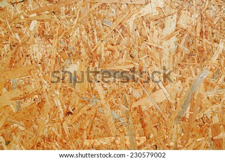 Particleboard background made from used wood  - stock photo