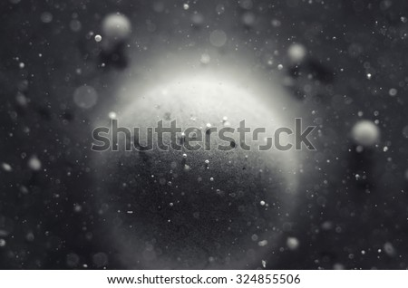 particles in liquid abstract background - stock photo