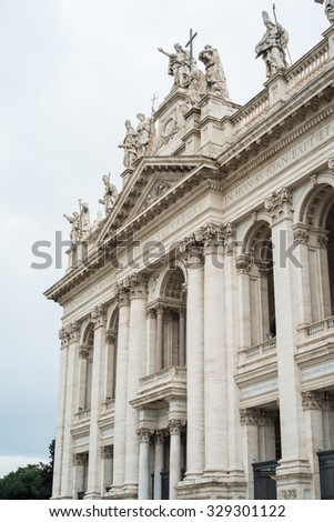 Particulars of San Giovanni in Laterano in Rome Italy