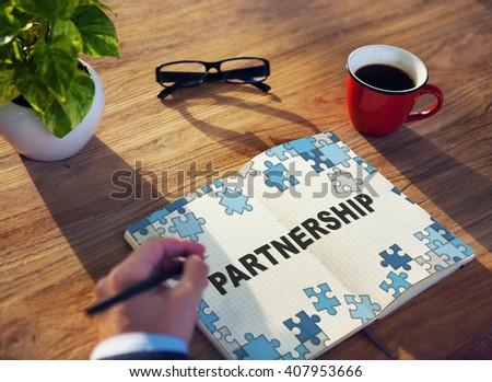 Partners Partnership Alliance Teamwork Unity Concept - stock photo