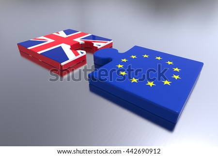 Partnership between Europe and Great Britain / Brexit / 3D Rendering
