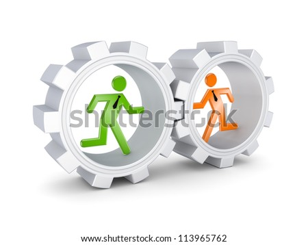 Partnership concept.Isolated on white background.3d rendered. - stock photo
