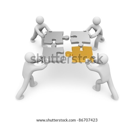 Partnership. Image contain clipping path - stock photo