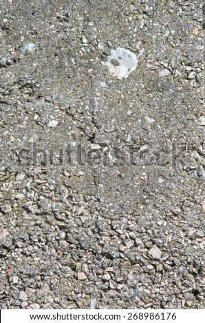Parts of the old destroyed concrete and stone floor. textural composition - stock photo