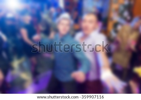 Party at the bar theme blur background - stock photo