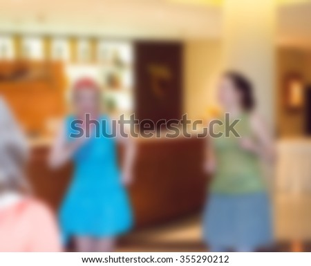 Party at the restaurant theme creative abstract blur background with bokeh effect