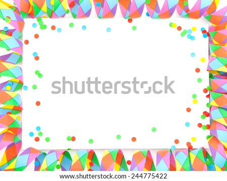 Party background template on white - stock photo
