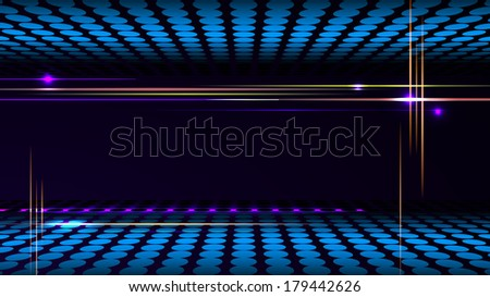 Party background with led display background and light frame.  - stock photo