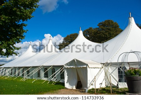 Party events wedding celebration banquet tent - stock photo