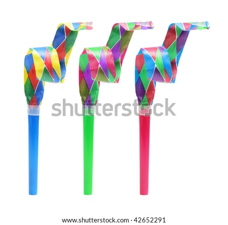 Party Favors on Isolated White Background - stock photo