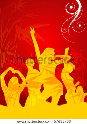 Party flayer - stock photo