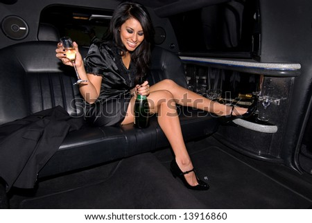 Party girl. - stock photo