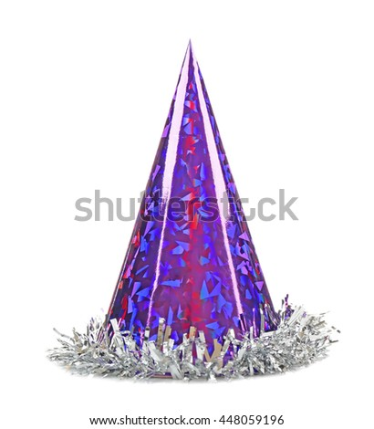 Party hat cone on a white background