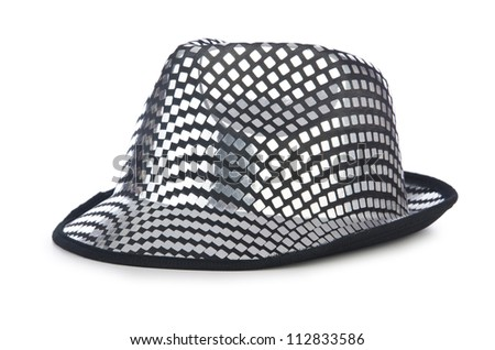 Party hat isolated on the white - stock photo