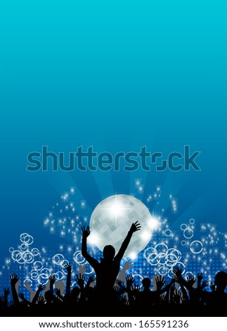 Party invitation poster or flyer background with space - stock photo