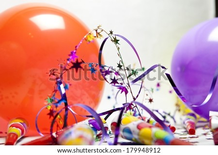 Party Items - stock photo