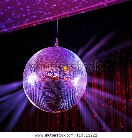 Party lights disco ball - stock photo