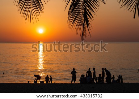 Party on the beach at the sunset,beach.