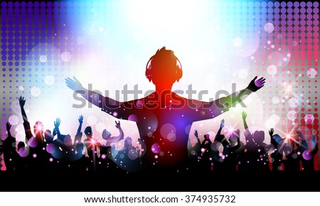 Party people in club - stock photo
