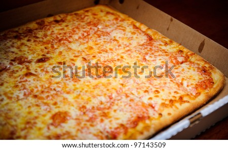 Party pizza in the box - stock photo