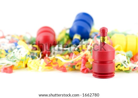 Party poppers - stock photo