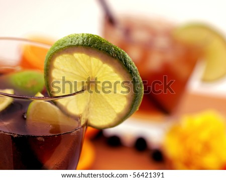 Party still life, low depth of focus - stock photo