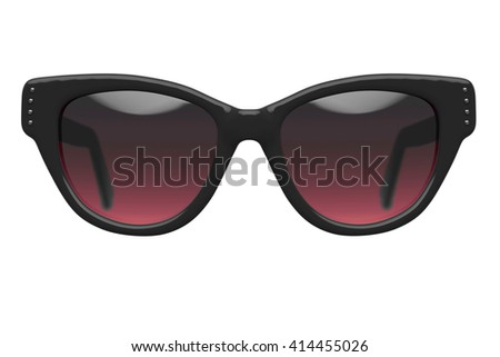 Party sunglasses isolated on white background. With clipping path. 3D render - stock photo