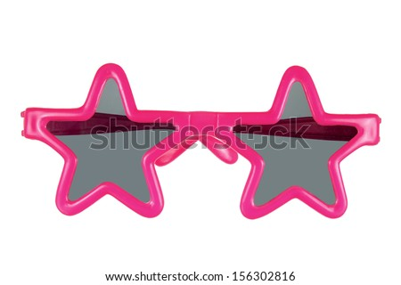 Party Sunglasses on White Background - stock photo