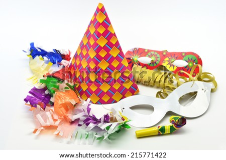 party time: new year cotillion partyware - stock photo