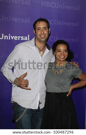 PASADENA - APR 18: Keven Lee, Liz Garrett at the NBCUniversal summer press day held at The Langham Huntington Hotel and Spa on April 18, 2012 in Pasadena, California