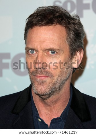 PASADENA, CA - JAN 11:  Hugh Laurie arrives at the FOX All-Star Party on January 11, 2011 in Pasadena, CA