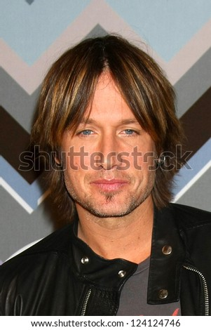 PASADENA, CA - JAN 8:  Keith Urban attends the FOX TV 2013 TCA Winter Press Tour at Langham Huntington Hotel on January 8, 2013 in Pasadena, CA - stock photo