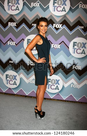 PASADENA, CA  - JAN 8:  Natalie Zea attends the FOX TV 2013 TCA Winter Press Tour at Langham Huntington Hotel on January 8, 2013 in Pasadena, CA - stock photo